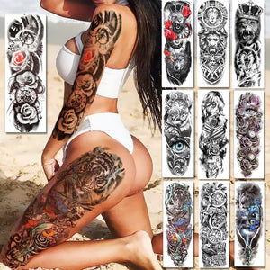 Sexy Full Arm Temporary Tattoos For Men & Women