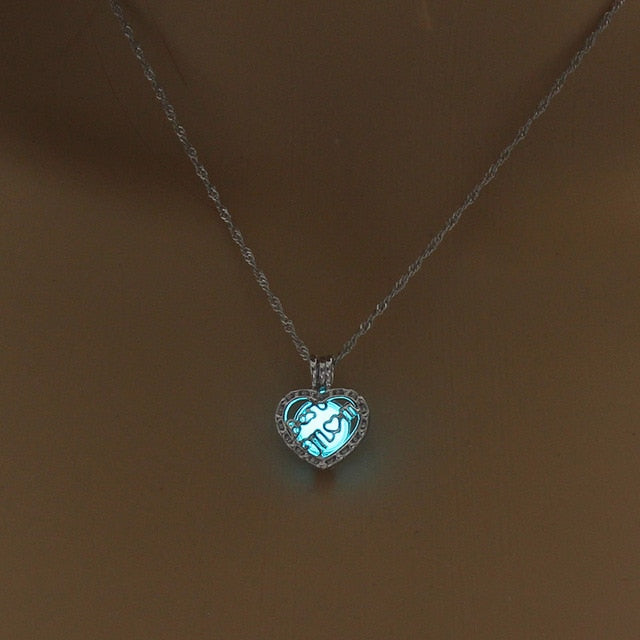 Glowing Pendant Necklace - Authenticblkwidow