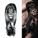 Large Arm Sleeve Lion King Temporary Tattoo - Authenticblkwidow