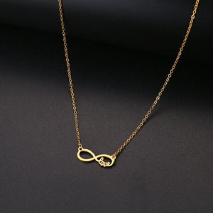 Love 8 Forever Pendant Necklace - Authenticblkwidow