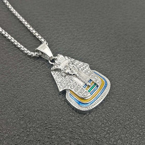 Egyptian Pharaoh Pendant Necklace - Authenticblkwidow