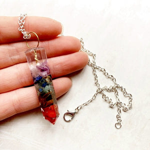 7 Chakra Orgone Healing Crystal Pendant Necklace - Authenticblkwidow