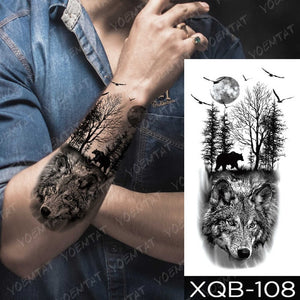 Japanese Themed Waterproof Temporary Tattoo - Authenticblkwidow