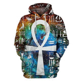 Galaxy Ankh 3D Hoodie and Sweatshirt Collection