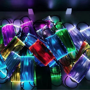 7 Color Bar LED Light Fiber Optic Facemask