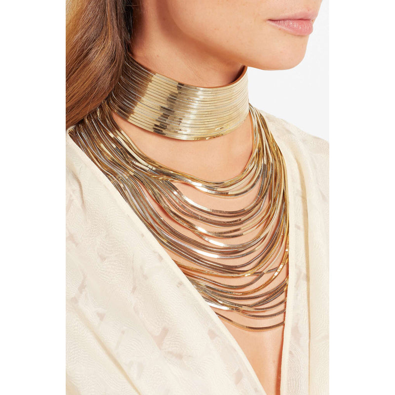 Luxury Long Metal Choker Necklace