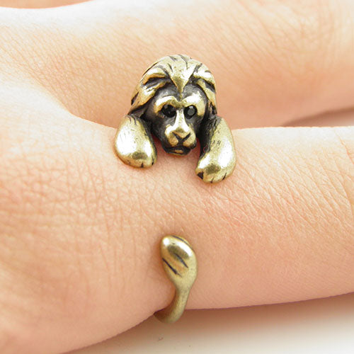 Adorable Hanging Lion Ring