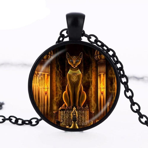 Bastet Goddess Pendant Necklace