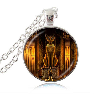 Bastet Goddess Pendant Necklace - Authenticblkwidow