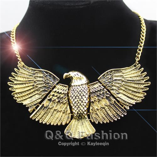 Vintage Egyptian Hawk Statement Choker Necklace
