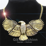 Vintage Egyptian Hawk Statement Choker Necklace - Authenticblkwidow
