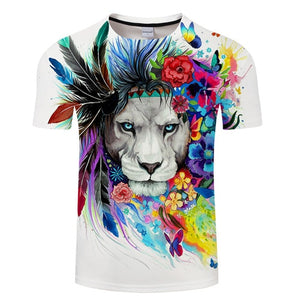 King of the Jungle Pixie 3D Lion Men's T-shirt - Authenticblkwidow