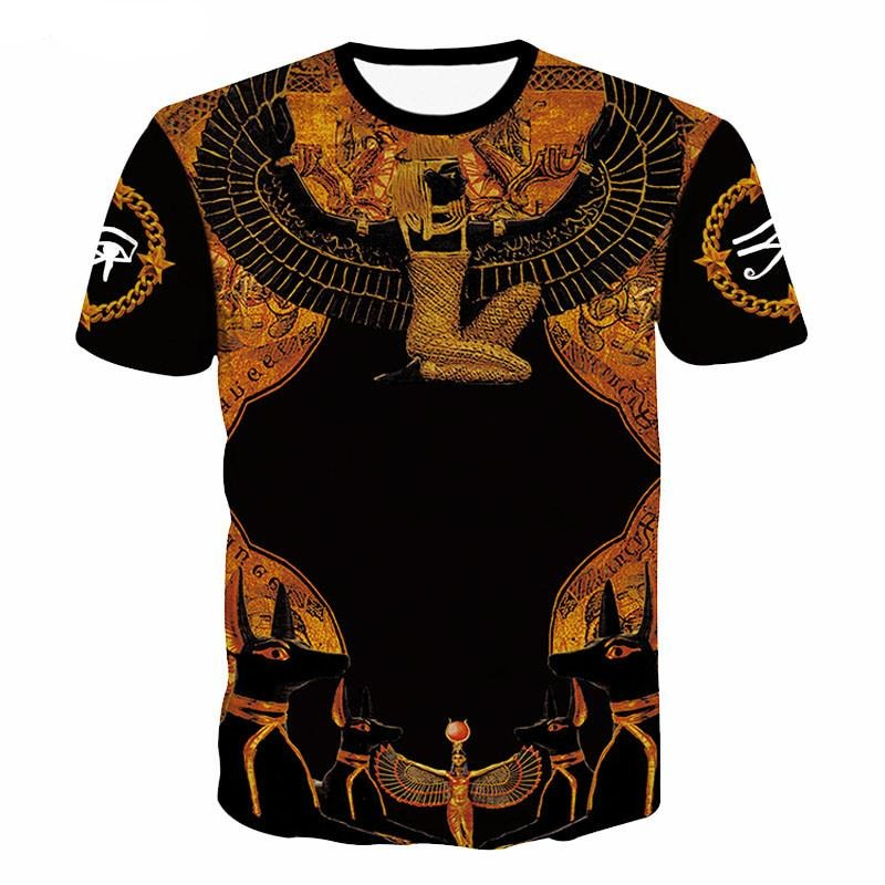 3 D Men's O-Neck Ancient Egyptian Streetwear T-Shirt