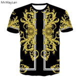 3 D Men's O-Neck Ancient Egyptian Streetwear T-Shirt - Authenticblkwidow