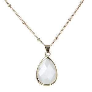 12 Natural Color Birthstone Pendant Crystal Quartz Necklace For Women