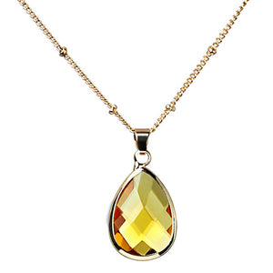 Natural Color Birthstone Pendant Crystal Quartz Necklace - Authenticblkwidow