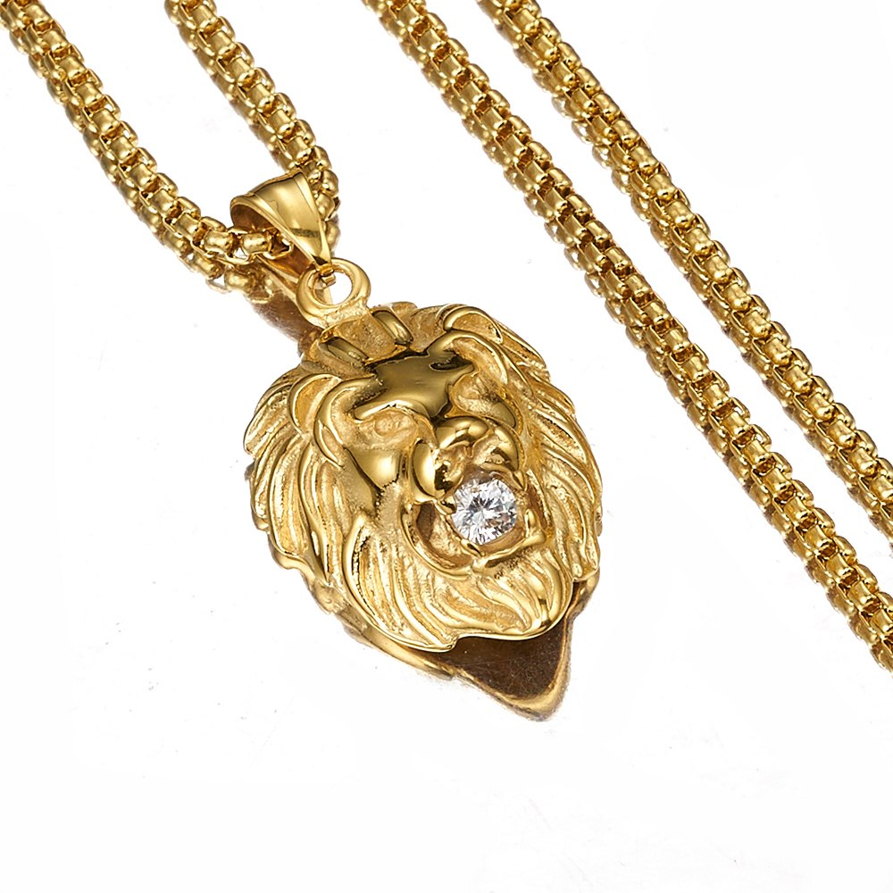Lion Rock Style Necklace  (Necklace & Pendant) - Authenticblkwidow