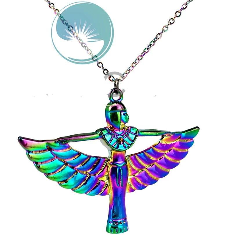 Rainbow Goddess Isis Pendant Necklace - Authenticblkwidow