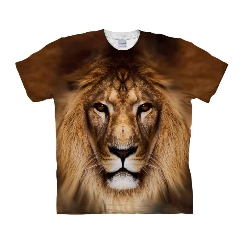 3D Lion T-Shirt - Authenticblkwidow