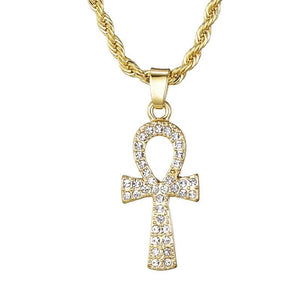 Key of Life Egyptian Ankh Charm Necklace - Authenticblkwidow