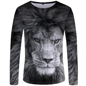Sensational 3D Lion Long Sleeve Shirt - Authenticblkwidow