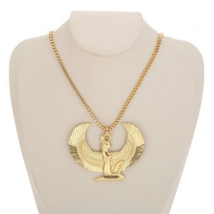 Goddess Isis Gold Pendant Necklace - Authenticblkwidow