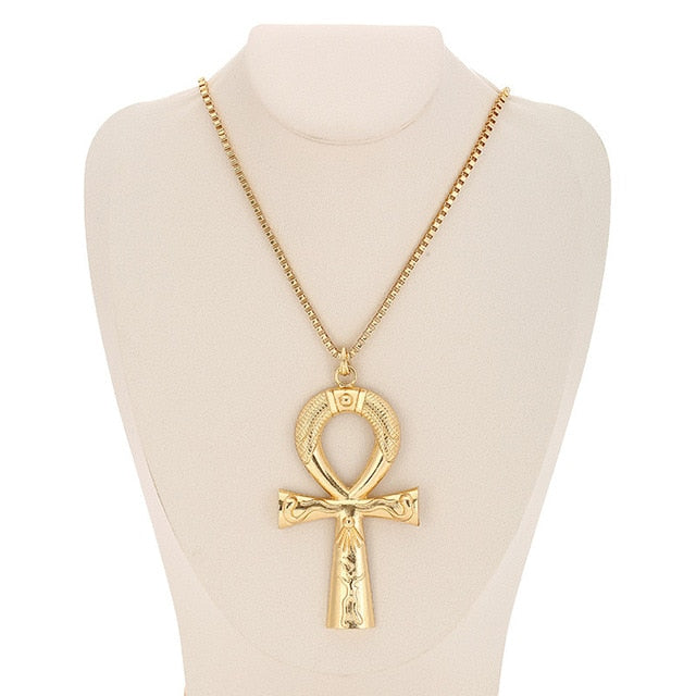 Goddess Isis Gold Pendant Necklace