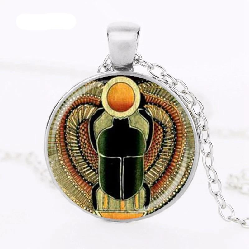 Symbol of Strength Egyptian Scarab Pendant Necklace - Authenticblkwidow