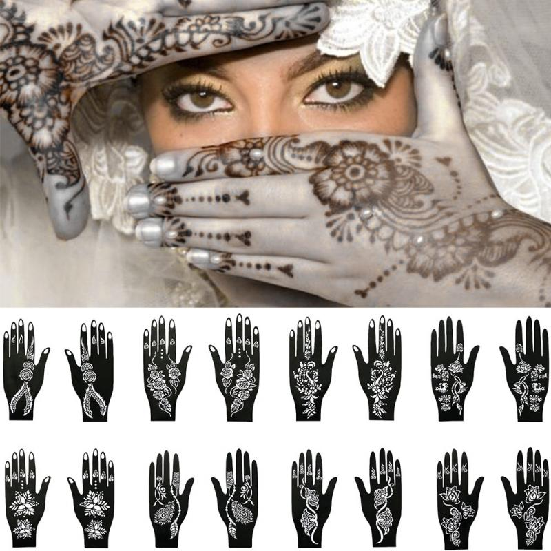 Henna Hand Stencil - Authenticblkwidow