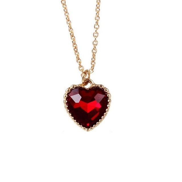 Love / Heart Pendant Necklace - Authenticblkwidow