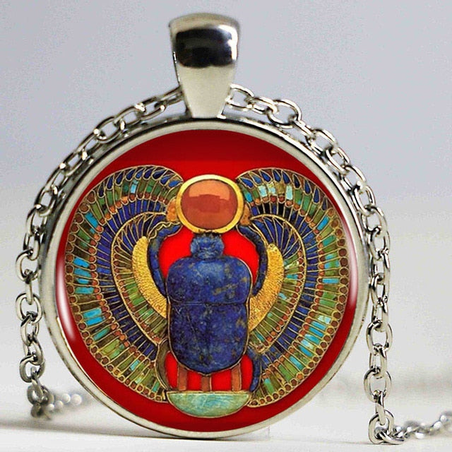 Egyptian Scarab Beetle Pendant Necklace - Authenticblkwidow