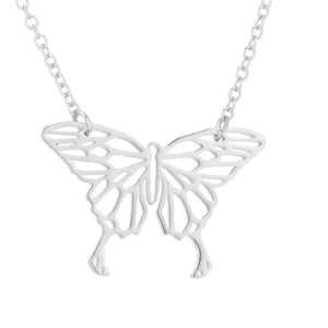 Stainless Steel Butterfly Earrings, Necklace and Jewelry Sets