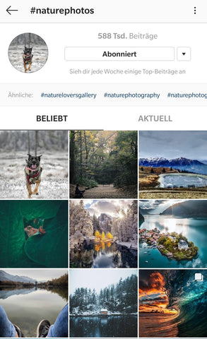 Istagram explore page, social media, trending posts