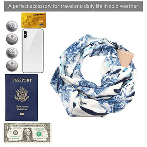 OuhSnap's Travel Scarf with Hidden Pockets