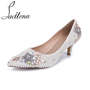 da17e129e6 Pearl Wedding Shoes, Bridal Shoes and Evening Shoes With Pearls ...