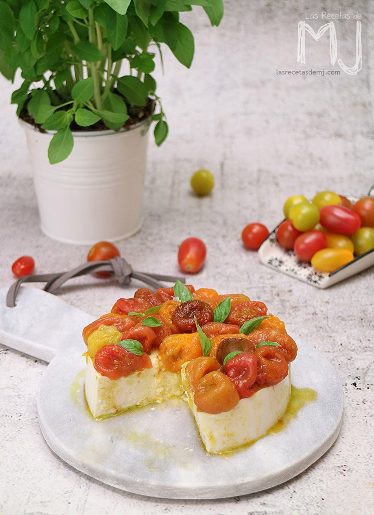 Cheesecake Caprese, vídeo receta
