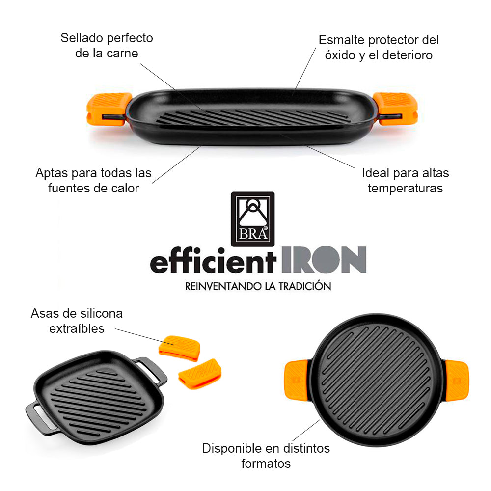 Parrilla redonda con rayas Efficient Iron