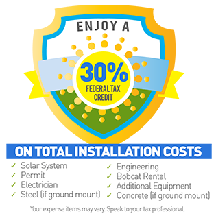 30% Federal Tax Credit Includes Solar Installation Costs