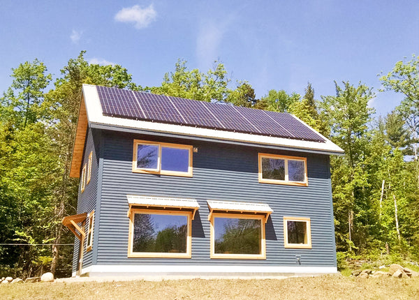 Solar array on a newly constructed home in Jackson, New Hampshire