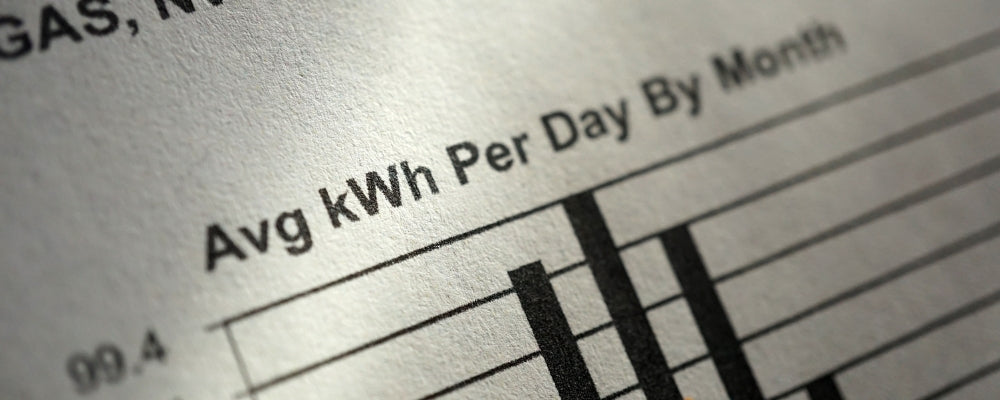 You can find your monthly kWh usage on your electric bill.