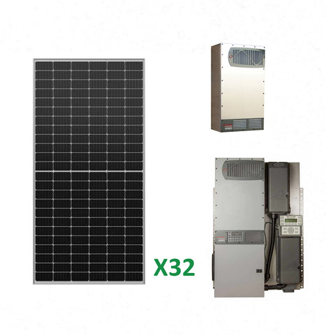 12.8kW Solar Off-Grid Kit with 12kW Power System