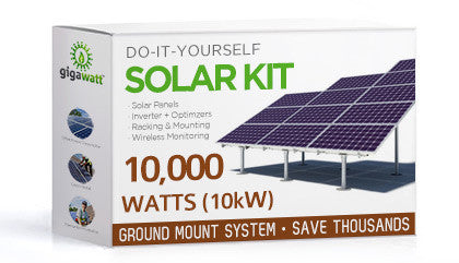 10kW (10000W) Solar Panel Ground Mount Installation Kit