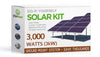 3120 Watt (3kW) Solar Panel Ground Mount Installation Kit
