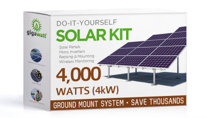 4kW (4000W) Solar Panel Ground Mount Installation Kit