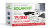 15000 Watt (15kW) DIY Solar Install Kit w/SolarEdge Inverter