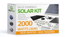 Load image into Gallery viewer, 2000 Watt (2kW) DIY Solar Install Kit w/Microinverters
