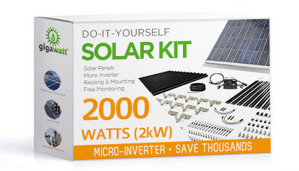2080 Watt (2kW) DIY Solar Install Kit w/Microinverters