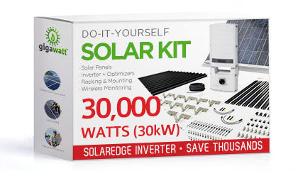 30000 Watt (30kW) DIY Solar Install Kit w/SolarEdge Inverter