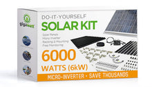 Load image into Gallery viewer, 6000 Watt (6kW) DIY Solar Install Kit w/Microinverters