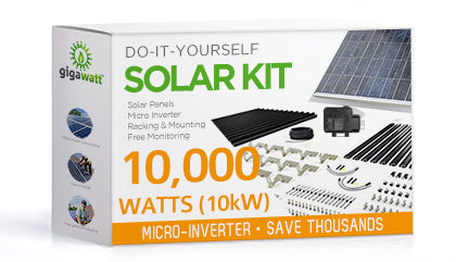 10,000 Watt (10kW) DIY Solar Install Kit w/Microinverters